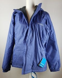 Columbia women's sherpa lined rain jacket XL NWT